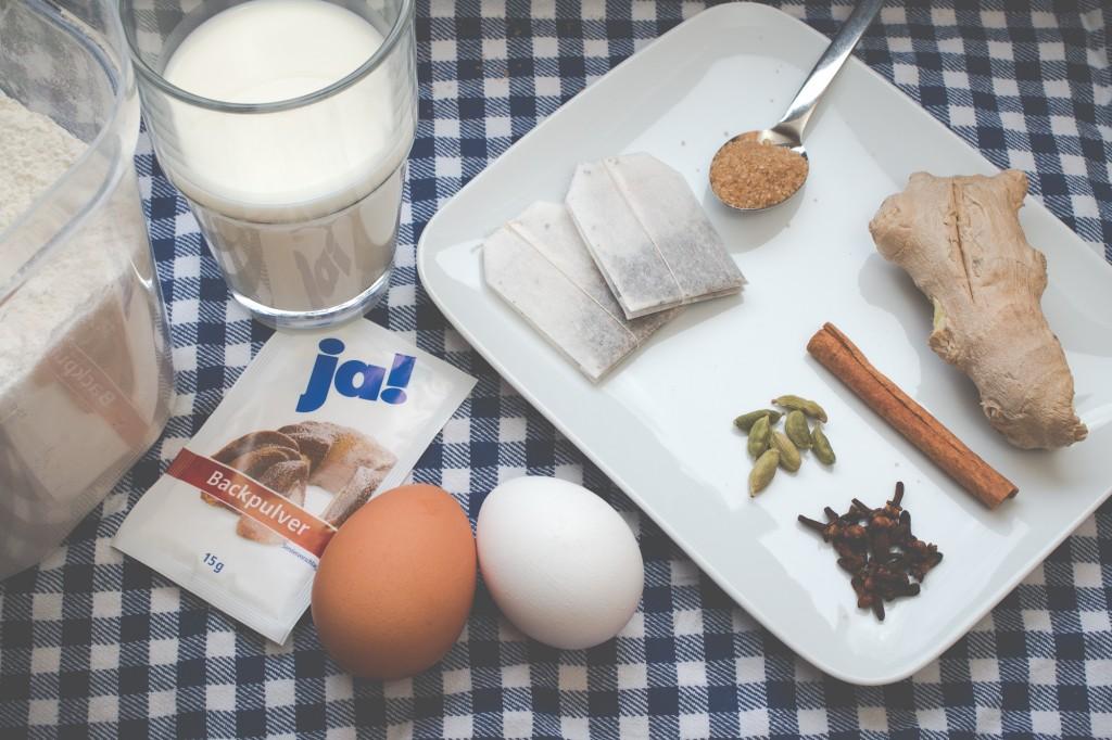 Zutaten für Chai-Pancakes